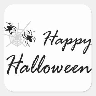 Adesivo Quadrado aranha e Web