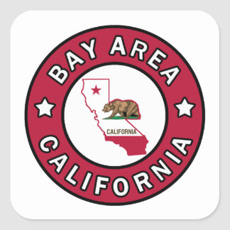 Adesivo Quadrado Área Califórnia da baía