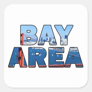 Adesivo Quadrado Área de San Francisco Bay