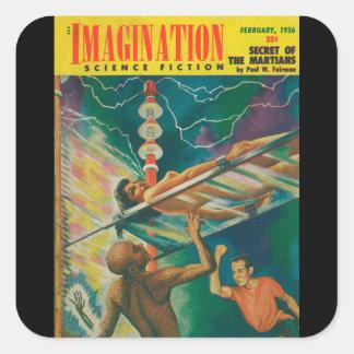 Adesivo Quadrado Arte do _02-1956_Pulp da imaginação