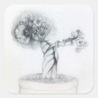 Adesivo Quadrado árvore bonito