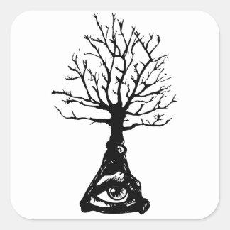 Adesivo Quadrado Árvore de Everwatching