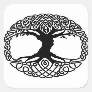 Adesivo Quadrado Árvore de vida