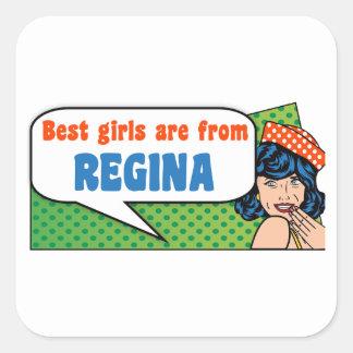 Adesivo Quadrado As melhores meninas são de Regina