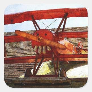 Adesivo Quadrado Avião do vintage por Shirley Taylor