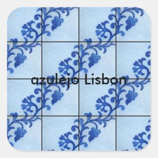 Adesivo Quadrado azulejo Lisbon