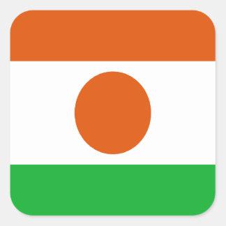 Adesivo Quadrado Baixo custo! Bandeira de Niger
