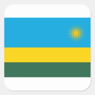 Adesivo Quadrado Baixo custo! Bandeira de Rwanda