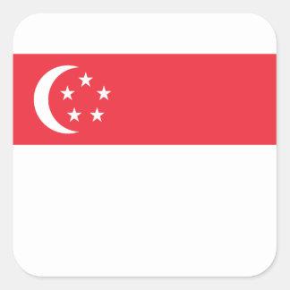 Adesivo Quadrado Baixo custo! Bandeira de Singapore