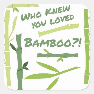 Adesivo Quadrado Bambu amado