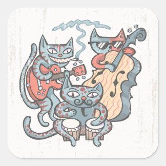 Adesivo Quadrado Banda Hep do gato