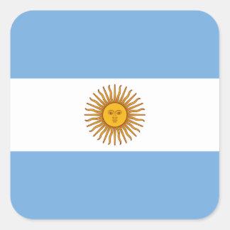 Adesivo Quadrado Bandeira: Argentina