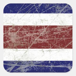 Adesivo Quadrado Bandeira da Costa Rica