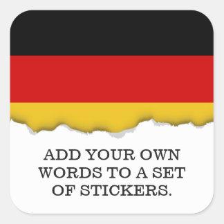 Adesivo Quadrado Bandeira de Alemanha