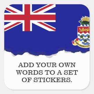 Adesivo Quadrado Bandeira de Cayman Islands