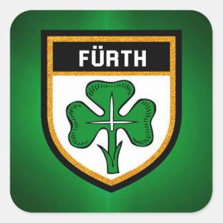 Adesivo Quadrado Bandeira de Fürth