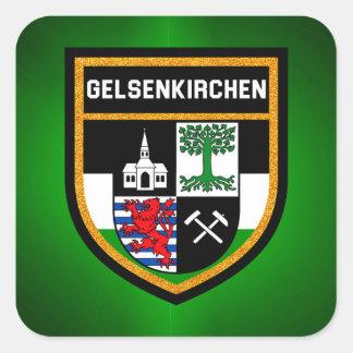 Adesivo Quadrado Bandeira de Gelsenkirchen
