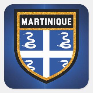 Adesivo Quadrado Bandeira de Martinica