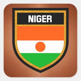 Adesivo Quadrado Bandeira de Niger