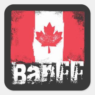 Adesivo Quadrado Bandeira do Grunge de Banff