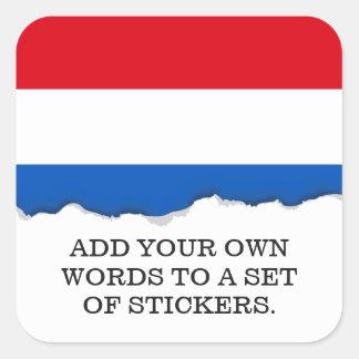 Adesivo Quadrado Bandeira holandesa de Holland