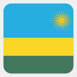 Adesivo Quadrado Bandeira nacional do mundo de Rwanda