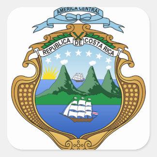 Adesivo Quadrado Brasão de Costa Rica - escudo de Costa Rica