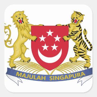 Adesivo Quadrado Brasão do emblema do 新加坡国徽 de Singapore