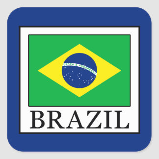 Adesivo Quadrado Brasil
