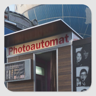 Adesivo Quadrado Cabine velha da foto em Berlim, Alemanha