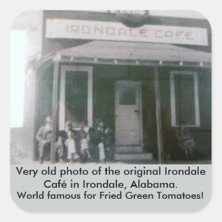 Adesivo Quadrado Café original fritado de Irondale dos tomates
