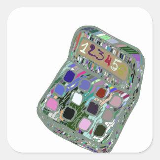 Adesivo Quadrado calculator2 colorido