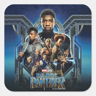 Adesivo Quadrado Caráteres da pantera preta | sobre Wakanda