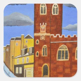 Adesivo Quadrado Casa de Tudor em Exeter