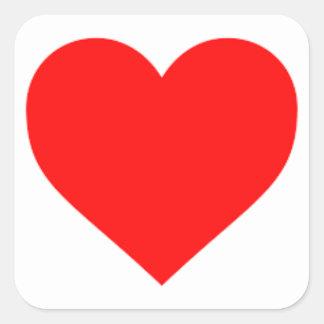 Adesivo Quadrado coração