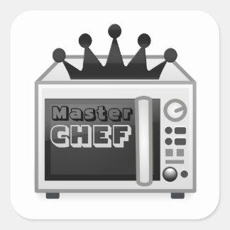 Adesivo Quadrado Cozinheiro chefe mestre da microonda