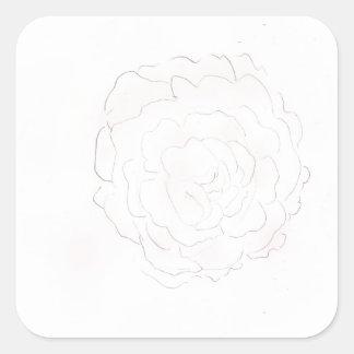 Adesivo Quadrado Design do rosa da couve