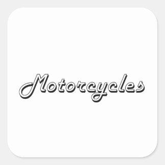 Adesivo Quadrado Design retro clássico das motocicletas