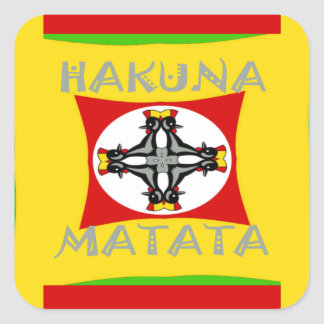 Adesivo Quadrado Design surpreendente bonito de Hakuna Matata