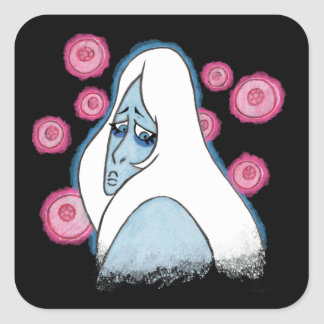 Adesivo Quadrado Diamante azul