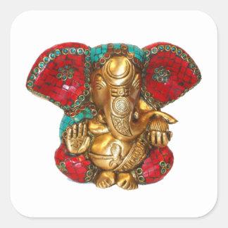 Adesivo Quadrado DIWALI felizes - Obrigado GANAPATI Ganesh