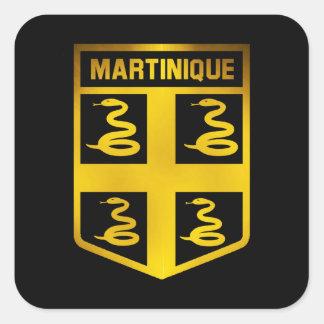 Adesivo Quadrado Emblema de Martinica