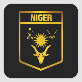 Adesivo Quadrado Emblema de Niger