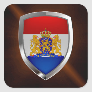 Adesivo Quadrado Emblema metálico holandês