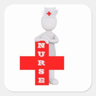 Adesivo Quadrado Enfermeira