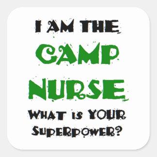 Adesivo Quadrado enfermeira do acampamento