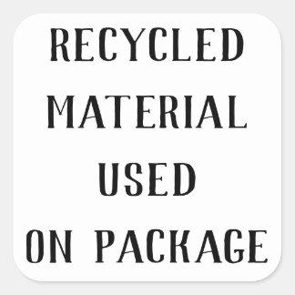 Adesivo Quadrado Enviamentos materiais do transporte de Repurpose