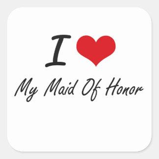 Adesivo Quadrado Eu amo minha madrinha de casamento