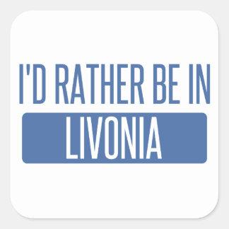 Adesivo Quadrado Eu preferencialmente estaria no Livonia