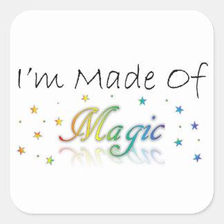 Adesivo Quadrado Eu sou feito da mágica
